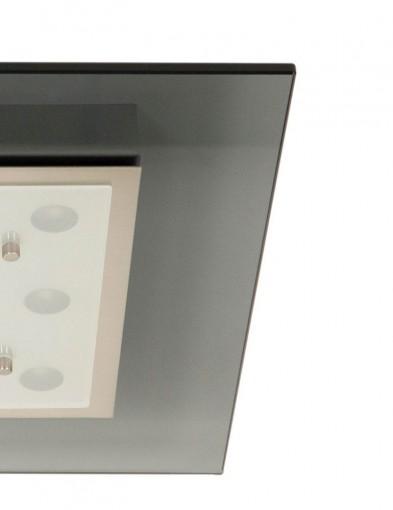 Plafón cuadrado Steinhauer Favorite LED color acero-2