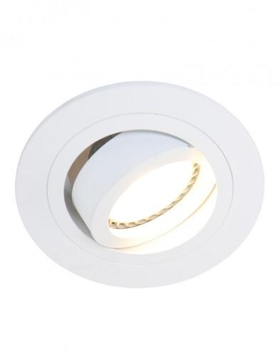 Foco empotrable redondo blanco-7304W