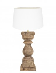 Lampara de madera blanca cadore-9181BE