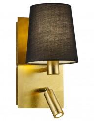 aplique de pared dorado con luz de lectura-1793ME