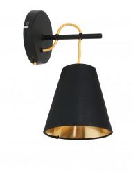aplique negro con interior dorado-1655ZW