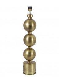 base de lampara con esferas doradas-1956GO