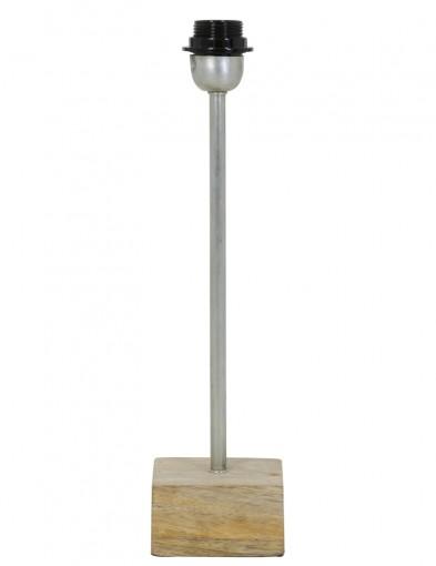 base de lampara de madera y acero-2053ST