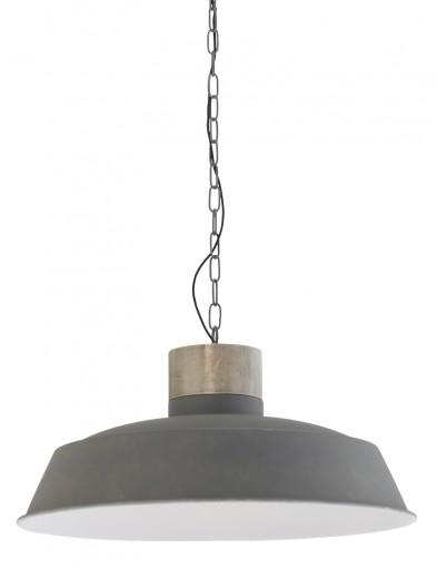 colgante de metal y madera-7888GR