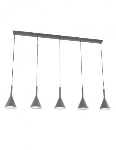 conjunto de cinco lamparas de techo-7808GR