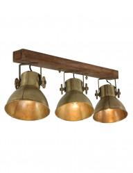 conjunto tres focos vintage bronce-1380BR