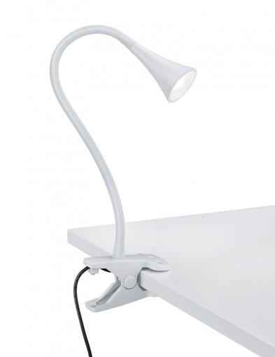 flexo de mesa con pinza blanca-1836W