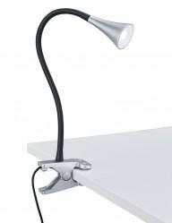 flexo de mesa con pinza plateada-1837A