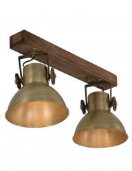 foco doble vintage bronce-1379BR