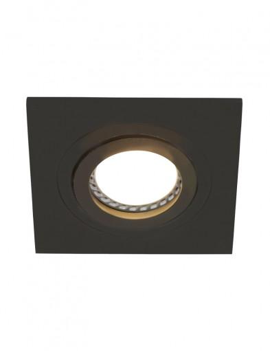 foco empotrable cuadrado negro-7305ZW