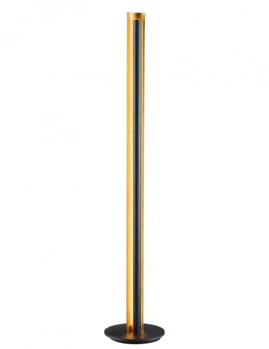 lamapra de pie negra con interior dorado-1823ZW