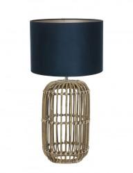 lampara azul de mimbre-9983B