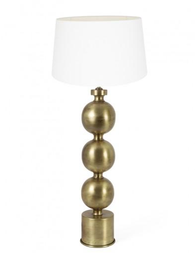 lampara blanca de esferas azul-9177GO