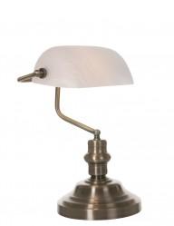 lampara blanca estilo banquero-8558BR