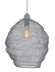 lampara colgante de malla gris-1377GR