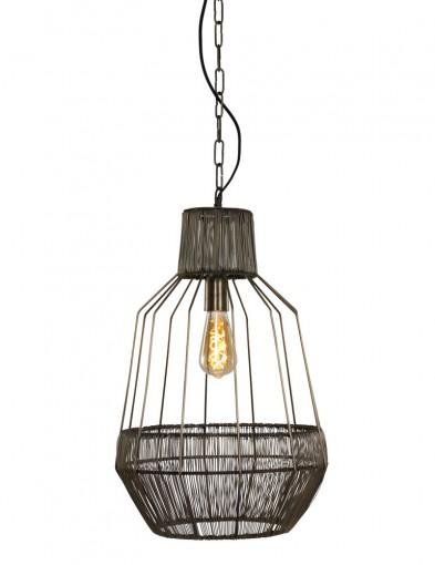 lampara colgante de techo de ratan-1680BR