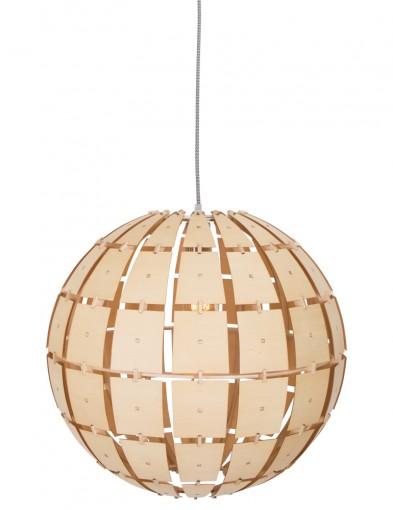 lampara colgante en madera-7818BE