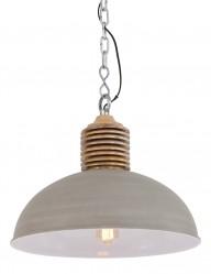 lampara colgante gris grande-1217BE