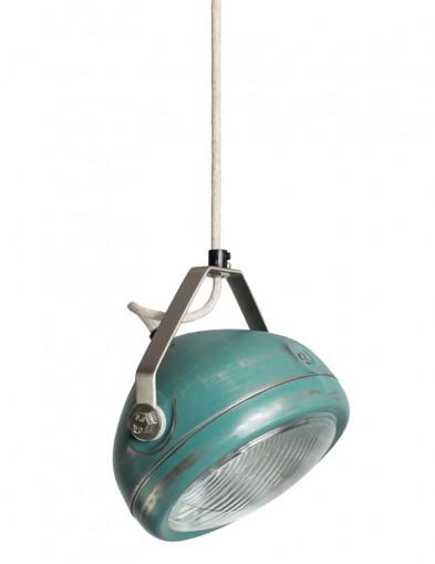 lampara colgante industrial azul-8888BL