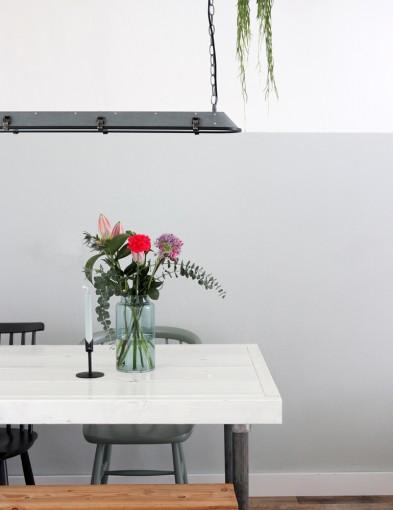lampara colgante industrial de acero gris-1571GR