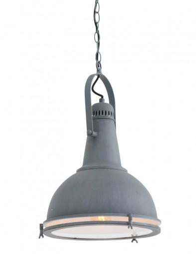 lampara colgante industrial gris claro-8770GR