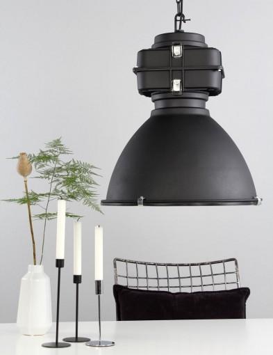 lampara colgante industrial negra-7779zw