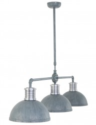 lampara colgante industrial tres luces-7672GR