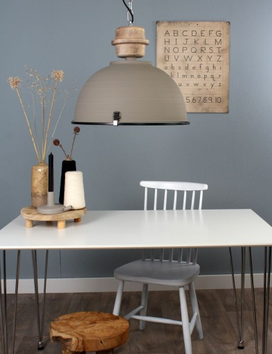 lampara comedor rustica gris calido-1460GR