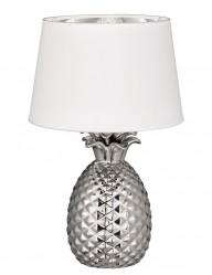 lampara con base de piña blanca-1644CH