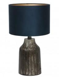 lampara con base estilo rustica en azul-9281ZW