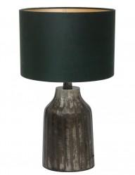 lampara con base estilo rustica verde-9280ZW