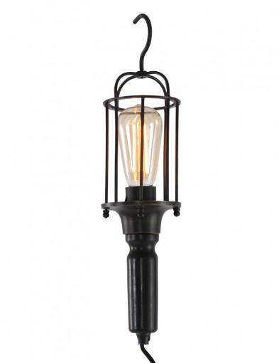 lampara con gancho negro-8926ZW