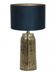 lampara con pantalla azul-9210GO