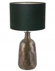 lampara con pantalla verde flatey-9197BR