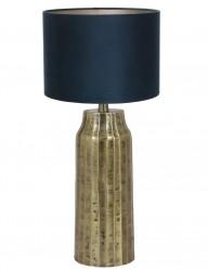 lampara con pie dorado azul-9284GO