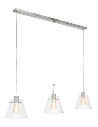 lampara con tres luces de vidrio-1895ST