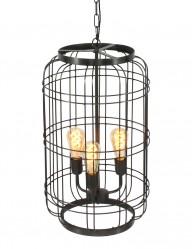 lampara de acero negro-1547ZW