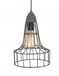 lampara de alambre gris-8956GR