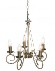 lampara de arana bronce cinco luces-8539BR