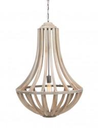 lampara de arana en madera-8971BE