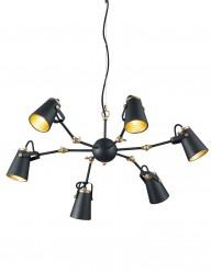 lampara de arana negra y dorada-1798ZW