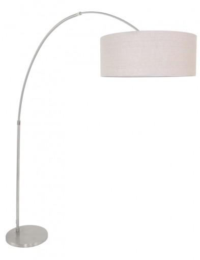 lampara de arco ajustable acero y gris-9904ST