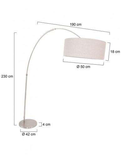 lampara-de-arco-ajustable-acero-y-gris-9904ST-6