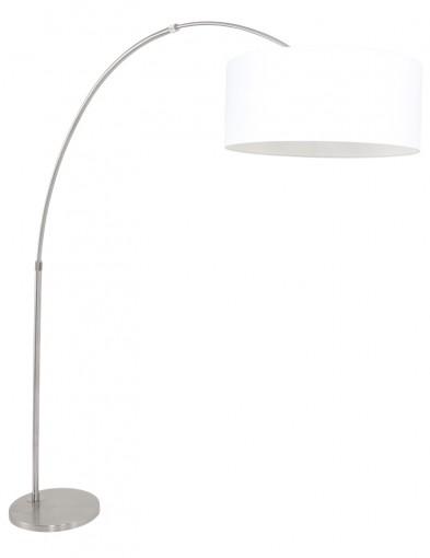 lampara de arco blanca en acero-9903ST