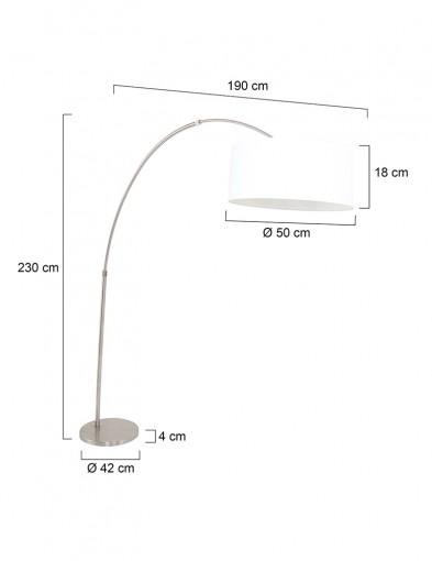 lampara-de-arco-blanca-en-acero-9903ST-6