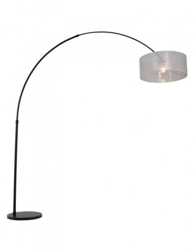 lampara de arco negra y plateada-9833ZW