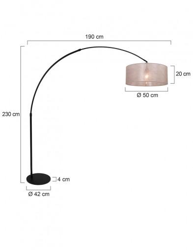 lampara-de-arco-negra-y-plateada-9833ZW-6