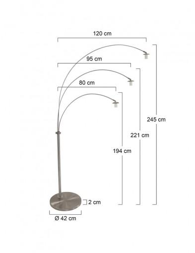 lampara-de-arco-tres-luces-9956ST-6