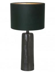 lampara de base negra en verde-9194ZW