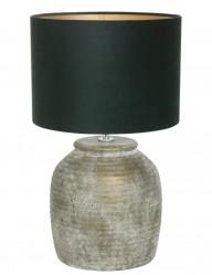 lampara de ceramica verde tambora-9188BR